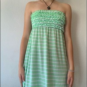 Striped Swim Swimsuit Coverup or Dress